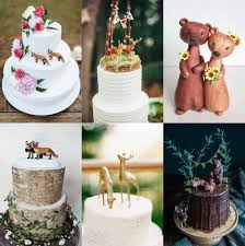 woodland cake toppers woodland animal wedding theme capesthorne and weddings