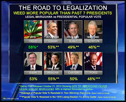 Legalize Weed Meme - weed more popular than past 7 presidents legalize marijuana