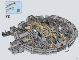 millenium falcon floor plan lego millennium falcon instructions 75105 star wars the force awakens