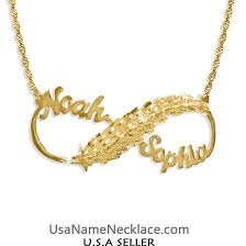 Infinity Name Necklace Usa Name Necklace Personalized Necklaces United States Jewelry