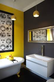 black and white and yellow bathroom house design ideas