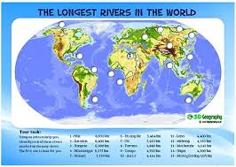 world rivers map map skills worksheets