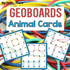 geoboards animals task cards by my happy place tpt