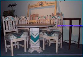 Southwest Dining Room Furniture Cruz Southwest Style Round Dining Set Tables Chairs China Cabinets