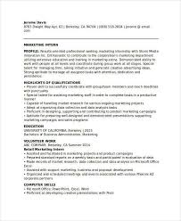 Marketing Intern Resume Modern Marketing Resumes 32 Free Word Pdf Documents Download