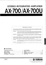 yamaha ax700u service manual documents