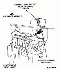 1998 ford ranger gem module location wiring diagram and engine