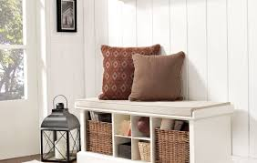 bench beautiful entryway bench with storage and coat rack white
