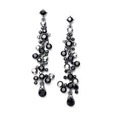 dramatic earrings dramatic earrings with cascading clear bubbles
