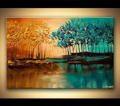 original abstract modern landscape made original abstract paintings by osnat purple forest reflected