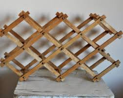 vintage wine rack etsy
