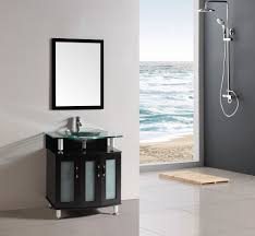 Bathroom Vanities 30 Inch by Belvedere Modern Espresso 30 Inch Bathroom Vanity With Glass Top