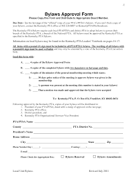 best photos of pta bylaws template pta membership form template