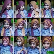 tutorial jilbab dua jilbab tutorial hijab segi empat 2 warna untuk wisuda dan lebaran jilbab