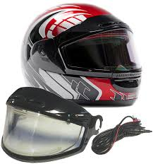 heated motorcycle clothing amazon com snowmobile helmet w electric heated shield full face