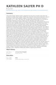 Psychology Resumes Clinical Psychologist Resume Samples Visualcv Resume Samples