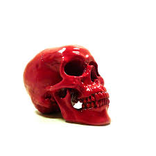 contemporary red skull table centerpiece by artsy home decor for