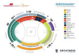 Sydney Entertainment Centre Floor Plan Geelong Vs Sydney Kardinia Park Stadium Trust