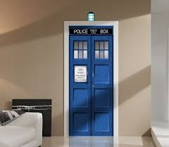 doctor who tardis repositionable door or wall graphic unique sci
