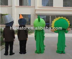 customize pea shooter mascot costume plants zombie costumes