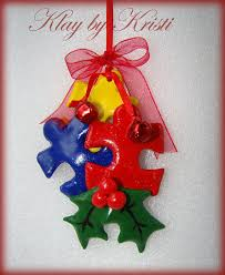 autism awareness puzzle ornament by klaybykristi