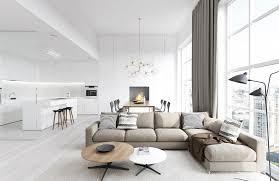 28 white home interiors modern white apartment interior by