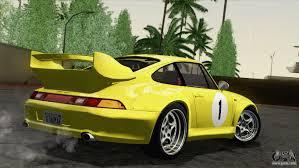 yellow porsche side view porsche 911 gt2 993 1995 hqlm for gta san andreas