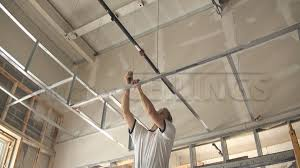 Drop Ceiling Installation by Drywall Suspended Grid Showroom Drywall Suspended Ceiling Grid
