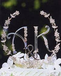 wedding cake jewelry wedding cake jewelry swarovski flower garland with initials