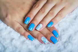 light blue nail stock photo image of beautiful 57811700