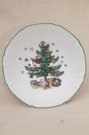 nikko japan happy holidays tree china dish or
