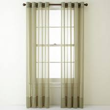 Green Sheer Curtains Green Sheer Curtains For Window Jcpenney