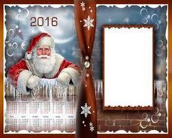2016 calendar template psd with frame merry christmas free