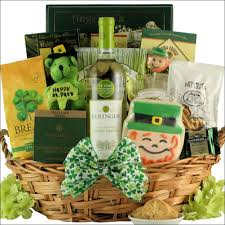 wine gift baskets st patricks day wine gift basket blessings