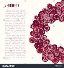 Design An Invitation Card Vector Zentangle Template Poster Invitation Card Stock Vector