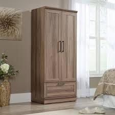 sauder homeplus wardrobe storage cabinet home plus salt oak wardrobe storage cabinet 423007 sauder