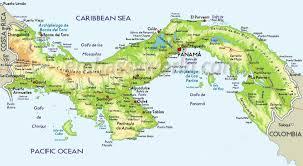 Caribbean Sea Map by Political Map Of Panama Caribbean Sea