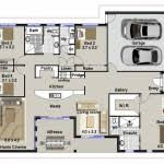 house plan floor plan for a small house 1 150 sf with 3 bedrooms