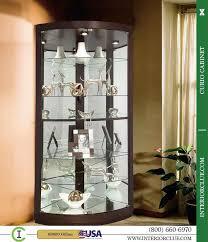 curved corner curio cabinet 680603 howard espresso finish curved glass doors corner curio cabinet