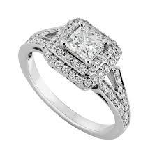 princess cut engagement rings white gold 18ct white gold 0 85 carat princess cut ring engagement