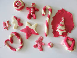 learn with play at home peppermint scented candy cane playdough