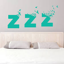 bedroom wall stickers decorate the bedroom wall stylishoms com turquoise sleepy wall sticker bedroom wall art idea