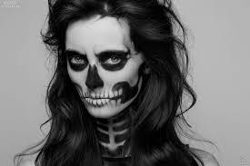how to do skeleton face makeup halloween skull face paint makeup