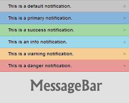 Top Bar Css Messagebar U2013 Jquery Plugin For Top Bar Notification Messages