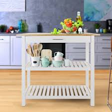 kitchen island with solid wood top walmart com