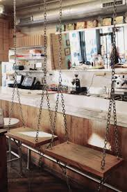 restaurant outdoor bar stools swing seats instead of bar stools at molly s cupcakes as seen on