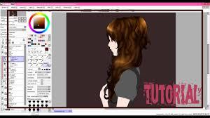tutorial como pintar el cabello con mouse en paint tool sai