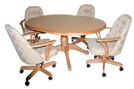 Dining Chairs With Casters Dining Room Table With Caster Chairs Best Caster Dining Room