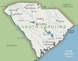 america map carolina south carolina america map