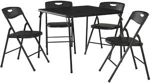 cosco 5 piece card table set black souq cosco 5 piece folding table and chair set black uae